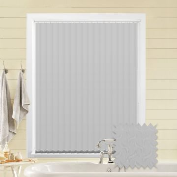 Vertical blinds - Made to Measure vertical blind in Tern White Blackout